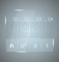 Glass infographic vector image