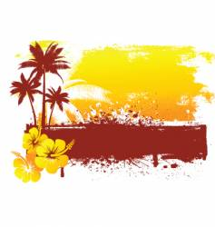 grunge summer background vector image vector image