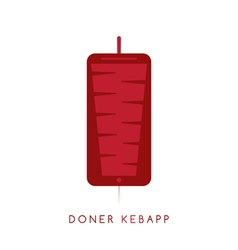Gyros doner kabob with smartphone app isolated vector