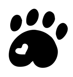 High quality original of cat paw with vector image