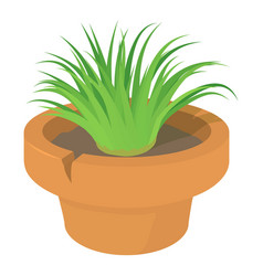 home plant icon cartoon style vector image vector image