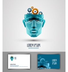 idea logo design template thought or intellect vector image