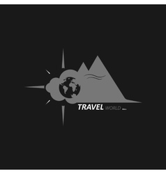 Journey across the globe vector image