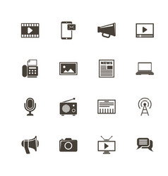 media - flat icons vector image vector image