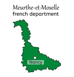 Meurthe-et-Moselle french department map vector image