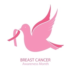 National breast cancer awareness month bird vector