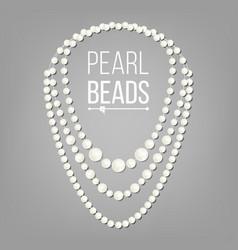 pearl necklace jewel string elegant vector image