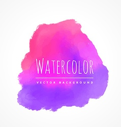 pink purple watercolor stain vector image vector image