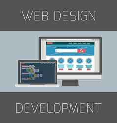 Set of flat design concepts Concept for web design vector image