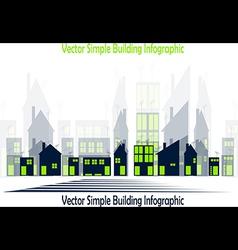 Simple buildings vector image