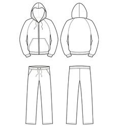 Sport suit vector image