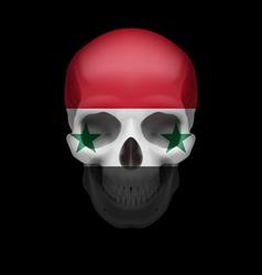 Syrian flag skull vector