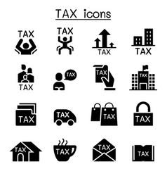 Tax icon set graphic design vector