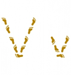 Traces letter v vector