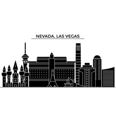usa nevada las vegas architecture city vector image