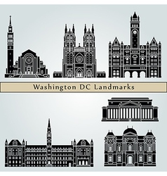 Washington V2 landmarks and monuments vector image