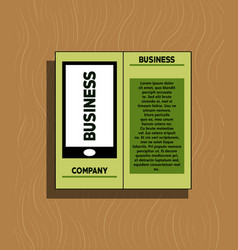 white business brochure and leaflet flyer cover vector image vector image