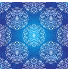 Seamless dark blue christmas pattern vector image