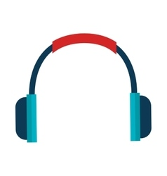Headset communication isolated icon vector