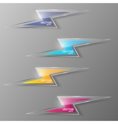 Set of glass lightning icon vector