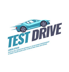 Modern poster test drive with the car vector
