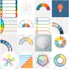 16 templates infographics cyclic processes text ar vector