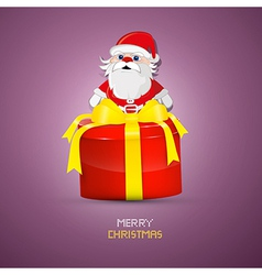 Abstract merry christmas background wit santa and vector
