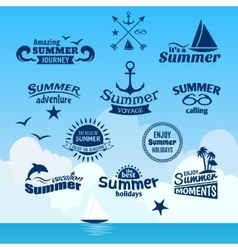 Summer element label vector