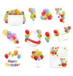Colored balloons set vector