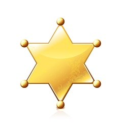 Sheriff star isolated vector