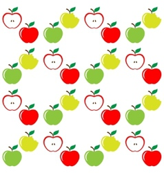 Seamless pattern of set apples vector