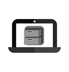 Laptop technology vector