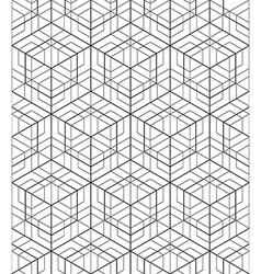 Futuristic continuous black and white pattern vector