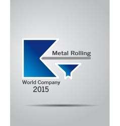 Logo company metal rolling vector