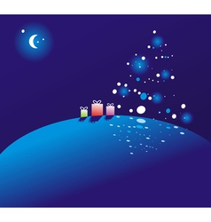 Christmas night vector