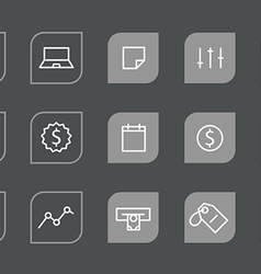 Modern web and mobile application pictograms vector