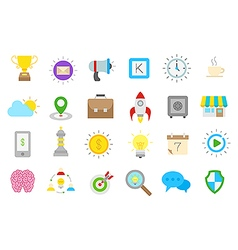 Web isolated icons set vector