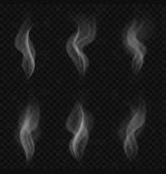 Abstract transparent smoke vector