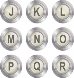 alphabet button jr vector image