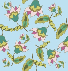 Beautiful hand drawn floral seamless pattern vector image vector image