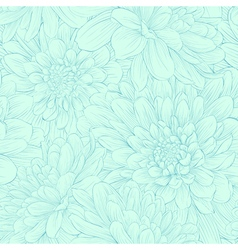 Beautiful seamless pattern with blue dahlia flower vector image vector image
