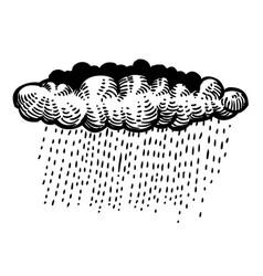 Cartoon image of rain icon cloud rain symbol vector