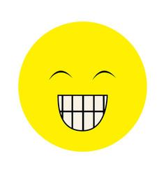 Colorful emoticon face happines expression vector