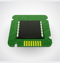 Computer chip or microchip vector