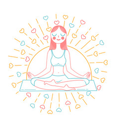 concept of yoga inear style vector image