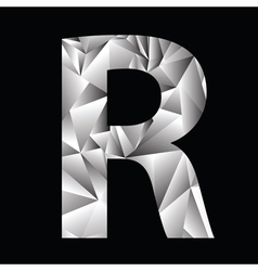 Crystal letter r vector