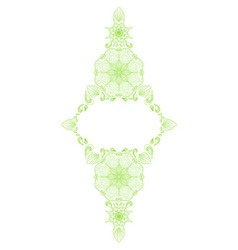 Decorative floral mandala frame element vector image vector image