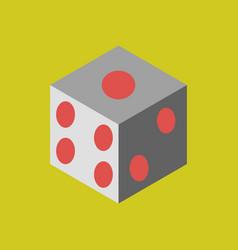 dice flat design isolated dice casino gambling vector image