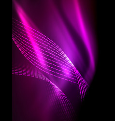 Elegant neon flowing stripes smooth waves with vector