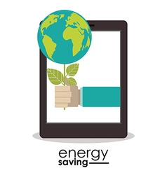 Energy saving design vector